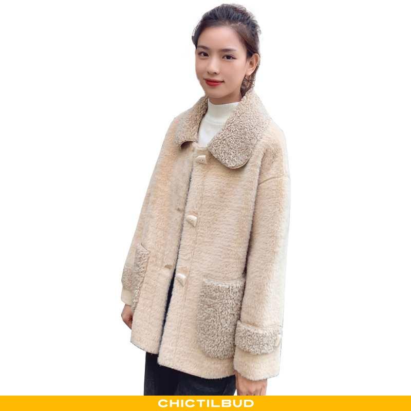 Uldfrakke Dame Frakke Mode Khaki