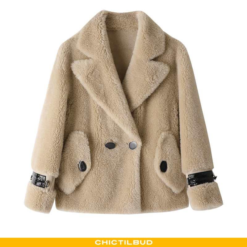 Uldfrakke Dame Frakke Mode Revers