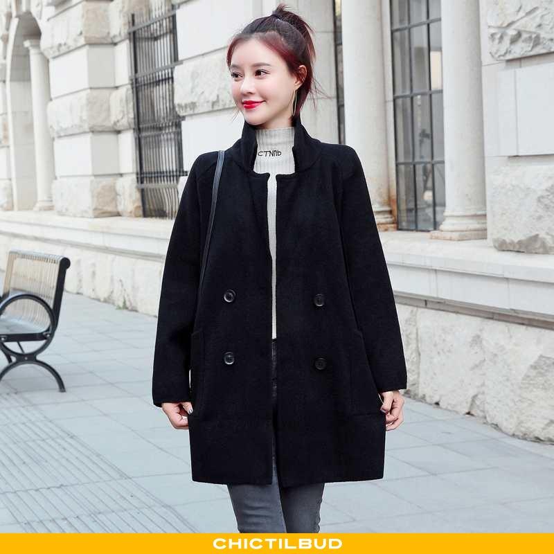 Uldfrakke Dame Frakke Uld 2021