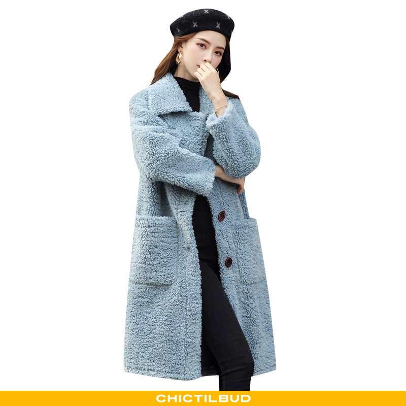 Uldfrakke Dame Frakke Uld Midten