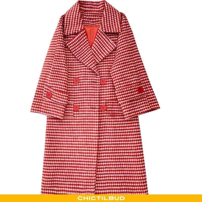 Uldfrakke Dame Frakke Vinter 2021