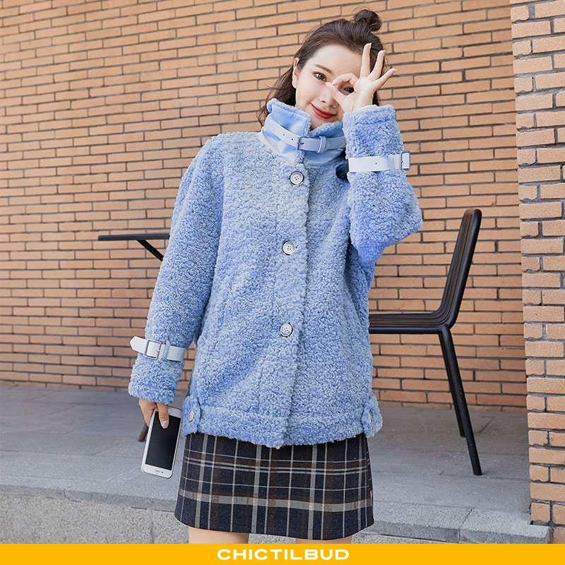 Uldfrakke Dame Frakke Vinter Elegante