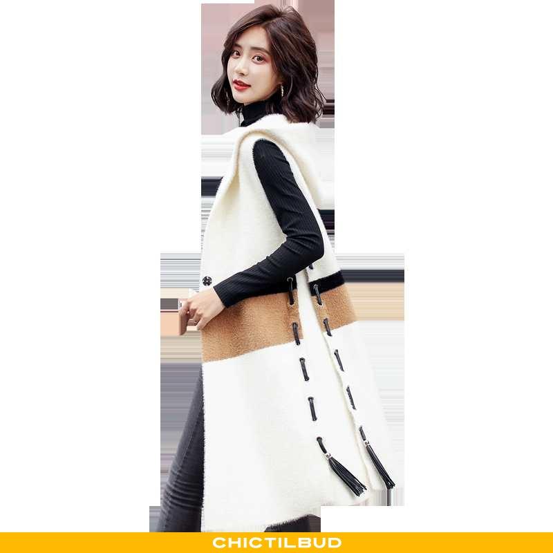 Vest Dame Frakke Mode Hvid