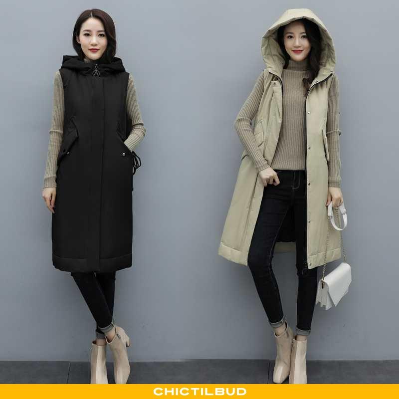 Vest Dame Mode Hver Dag Sort