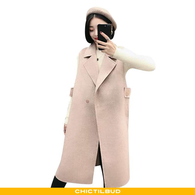 Vest Dame Mode Personlighed Khaki