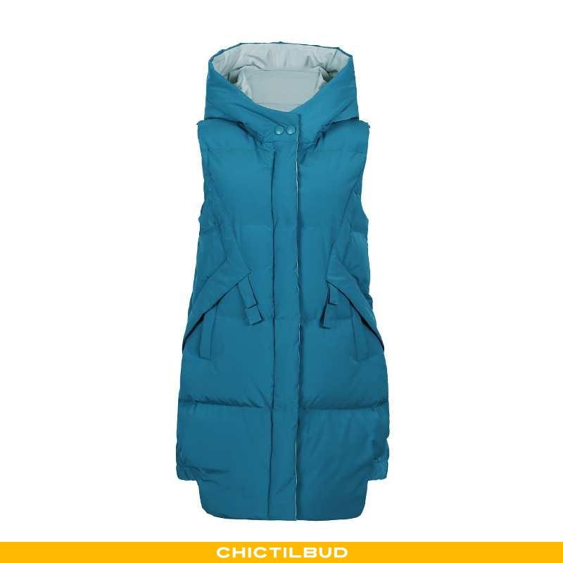 Vest Dame Mode Personlighed Mørkeblå