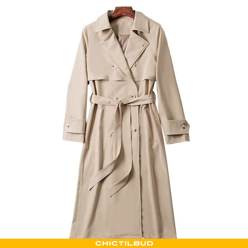Vindjakke Dame Trenchcoat Mode Midten