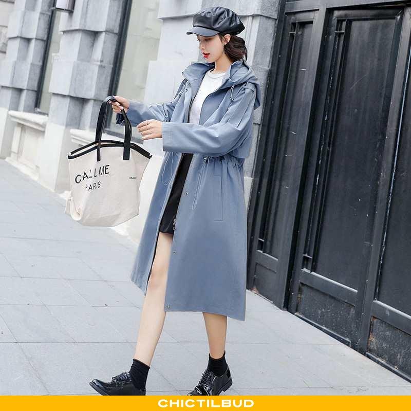 Vindjakke Dame Trenchcoat Skinny 2021