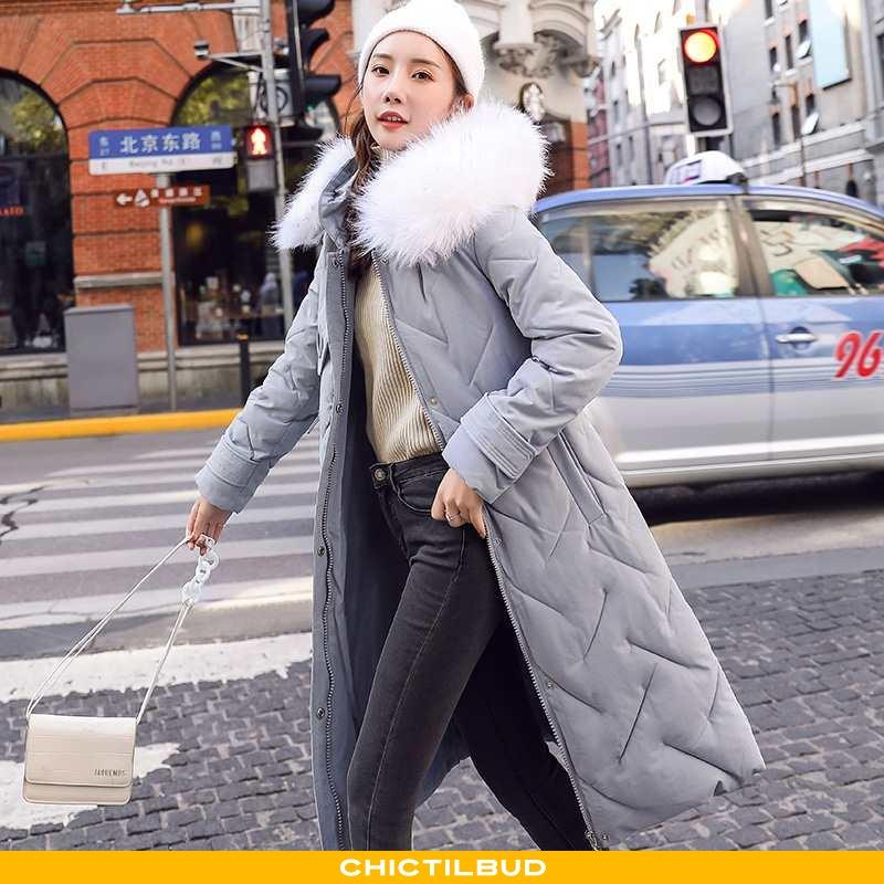 Vinterjakke Dame Bomuld Jakke Skinny Alt Matcher