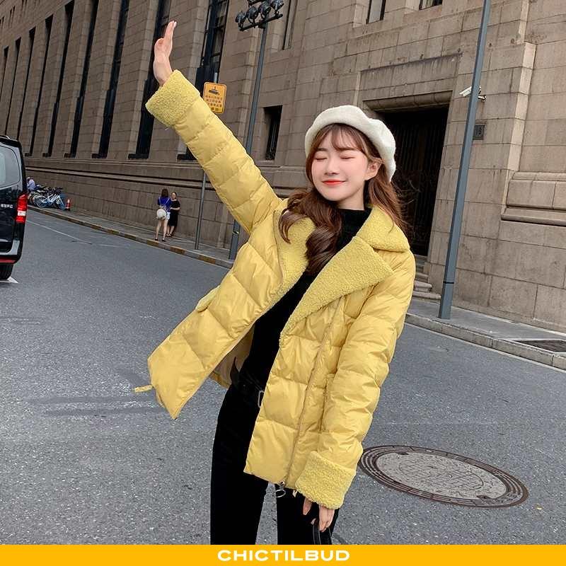 Vinterjakke Dame Bomuld Jakke Trend Elegante