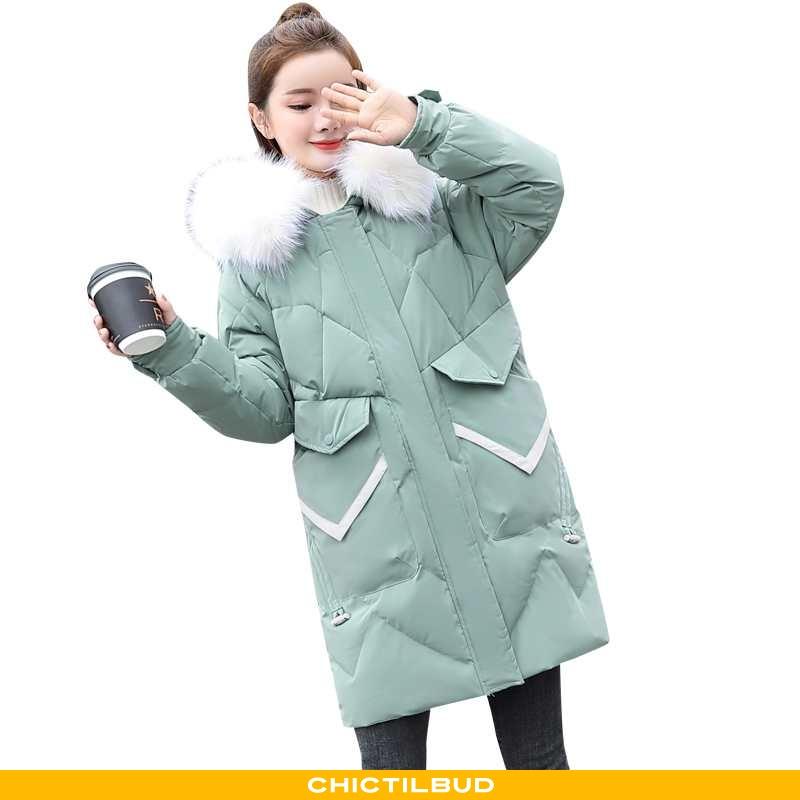 Vinterjakke Dame Bomuld Jakke Vinter Elegante