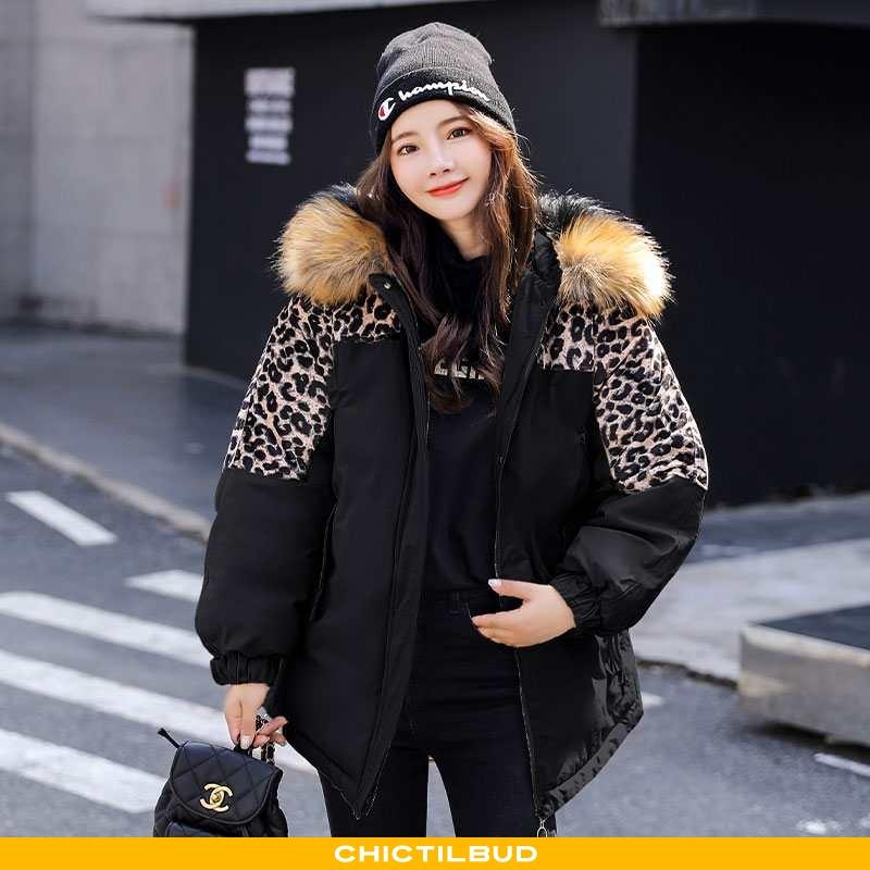 Vinterjakke Dame Bomuldsjakke Mode Sort