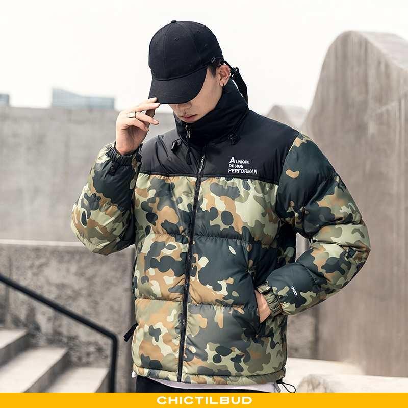 Vinterjakke Herre Frakke Mode Camouflage