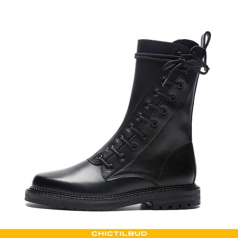 Vinterstøvler Dame Korte Støvler Læder Sommer 2020