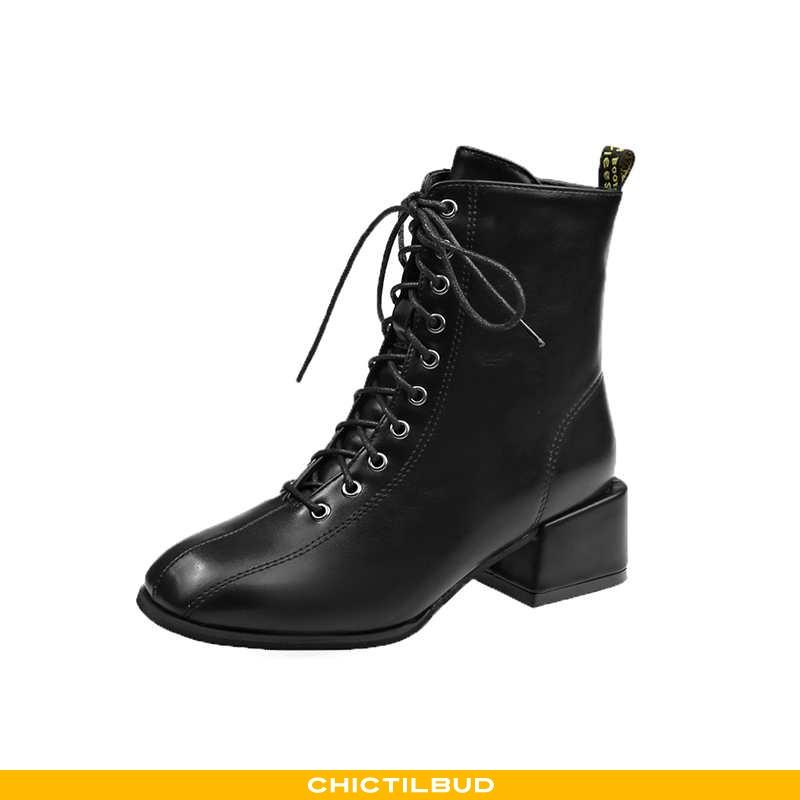 Vinterstøvler Dame Korte Støvler Vinter Britisk