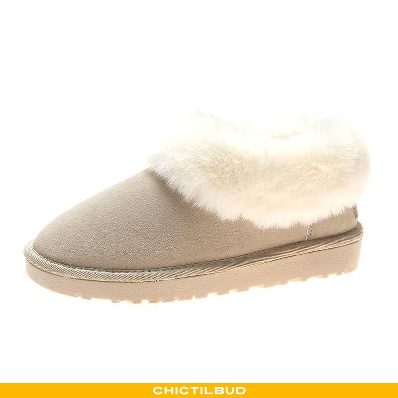 Vinterstøvler Dame Sne Støvler Bomuld Flade Kvinder