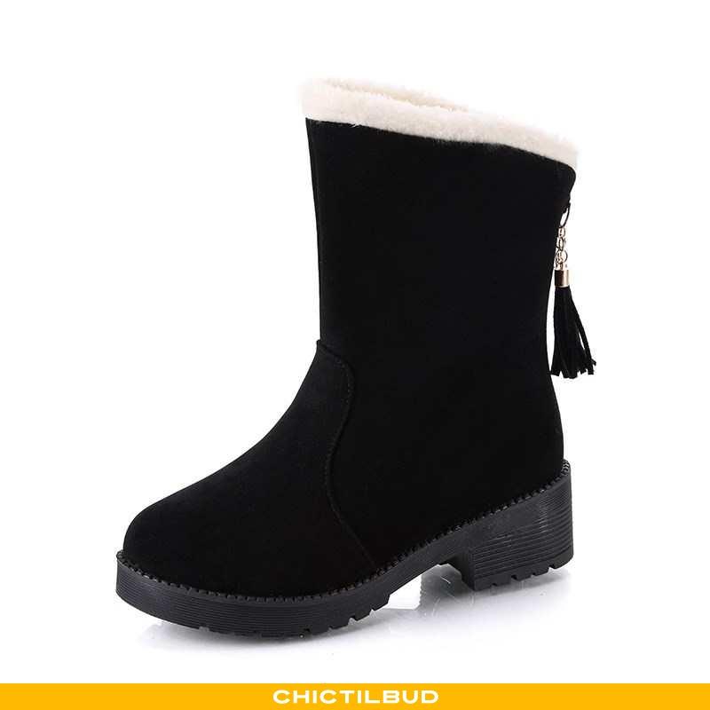 Vinterstøvler Dame Sne Støvler Bomuld Tykke Kvinder