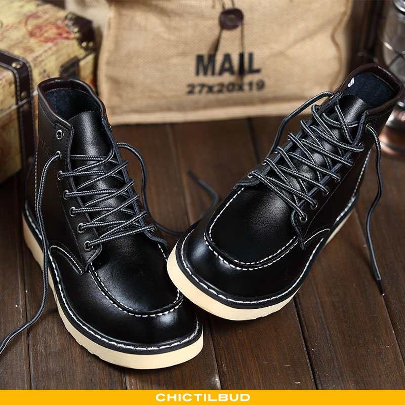 Vinterstøvler Herre Korte Støvler Læder Trend Mænd