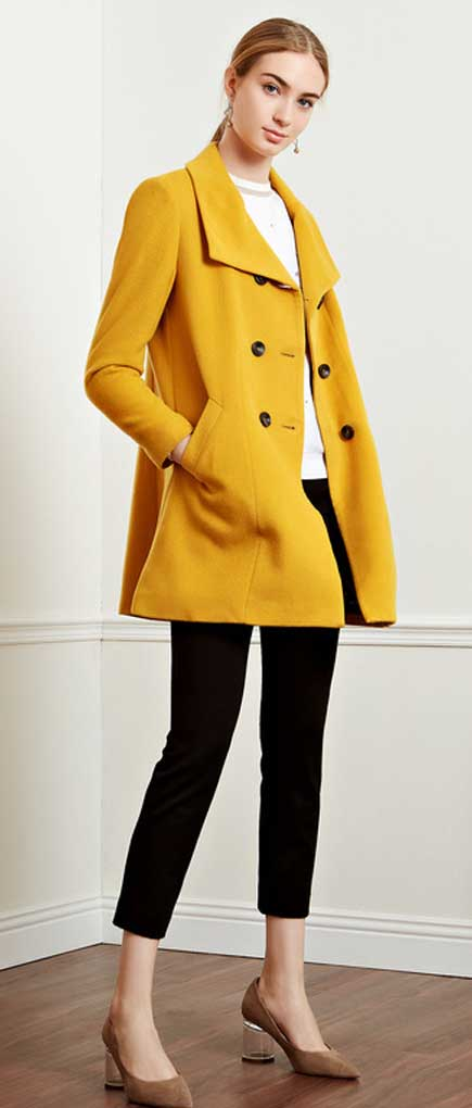 uldfrakke dame lang